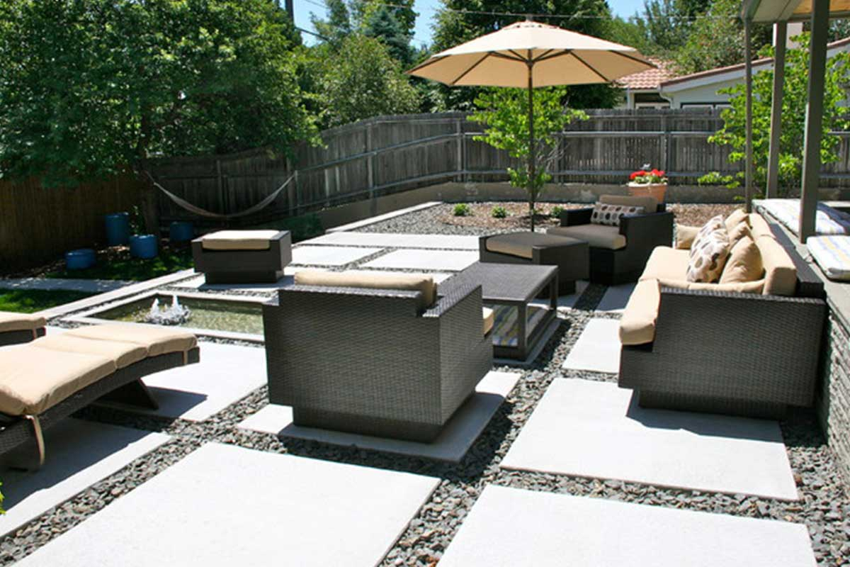 modern concrete patio twin falls idaho