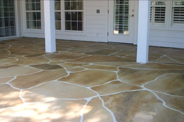 Stained Concrete Can Be Even Made To Look Like Flagstone.