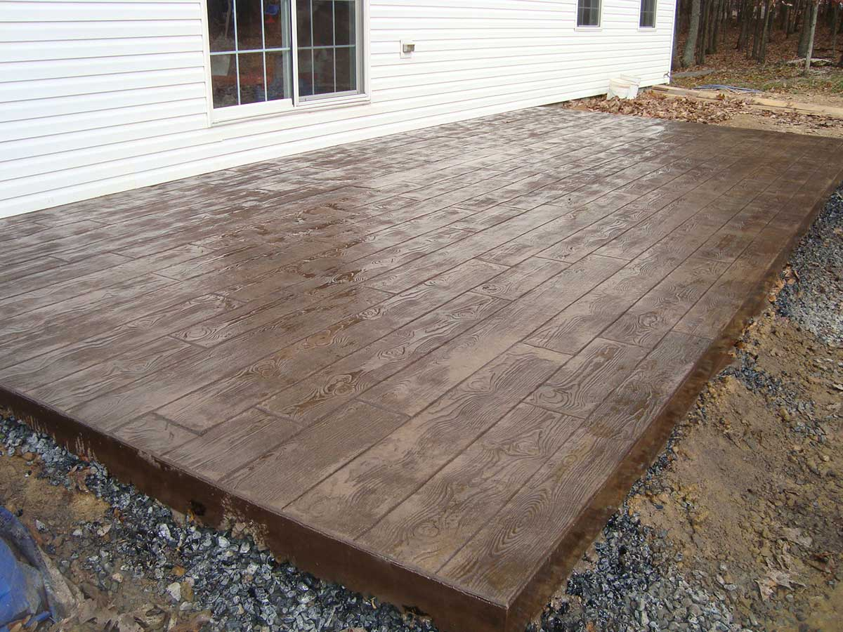 Stamped Concrete Made To Look Like Wood, Just Add Color.