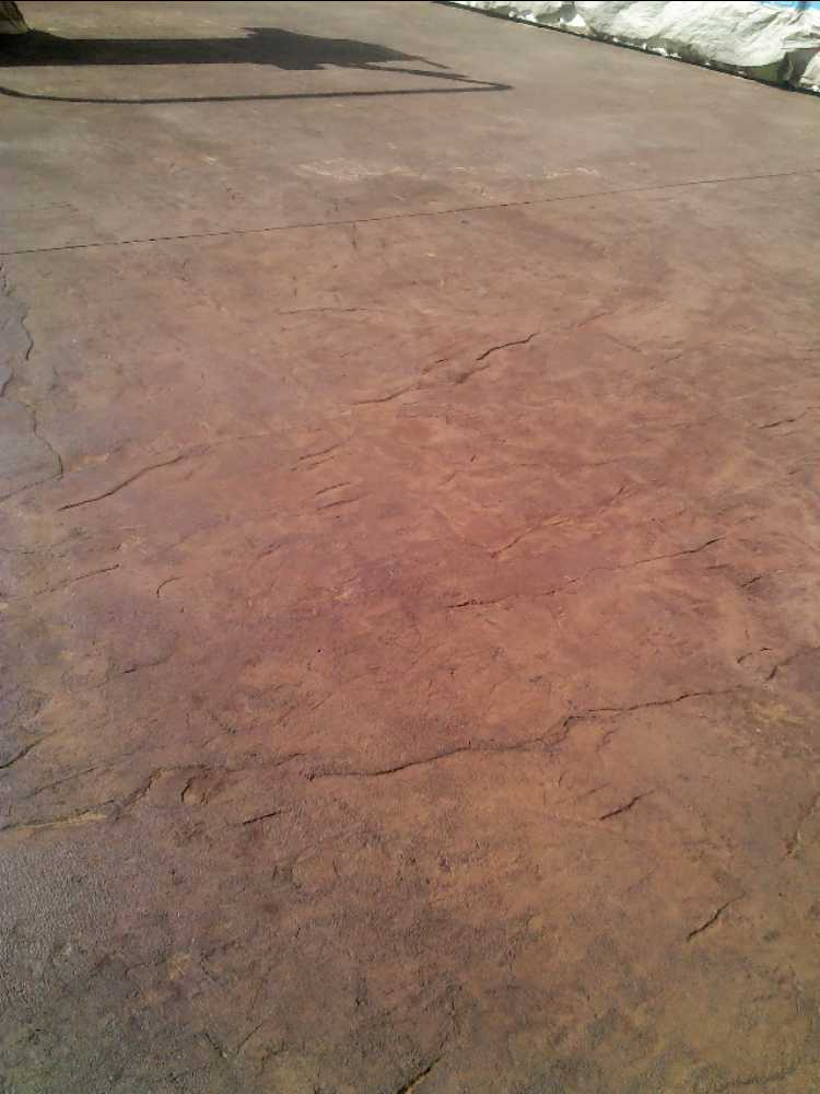 stamped concrete patio twin